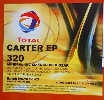 Industrial Lubricants : TOTAL CARTER EP 320 (200L Drum)